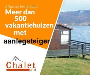 vakantiehuizen met aanlegsteiger chalet banner