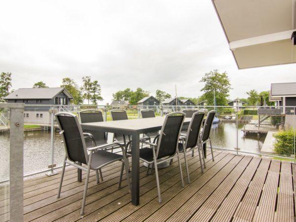 Waterwoning comfort 8C Sneekermeer - Nederland - Friesland - 8 personen - terras